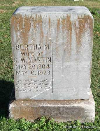 MARTIN, BERTHA M. - Garland County, Arkansas | BERTHA M. MARTIN - Arkansas Gravestone Photos