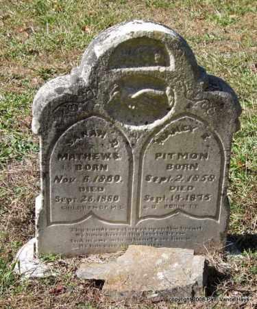 BURNETT PITMON, NANCY E. - Garland County, Arkansas | NANCY E. BURNETT PITMON - Arkansas Gravestone Photos