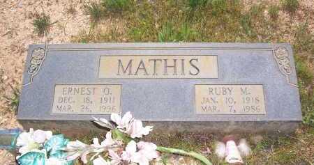 MATHIS, ERNEST O. - Garland County, Arkansas | ERNEST O. MATHIS - Arkansas Gravestone Photos