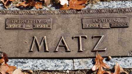 MATZ, DOROTHY E - Garland County, Arkansas | DOROTHY E MATZ - Arkansas Gravestone Photos
