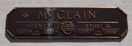 MCCLAIN, VERN L - Garland County, Arkansas | VERN L MCCLAIN - Arkansas Gravestone Photos