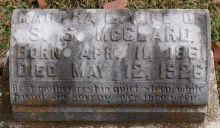 MCCLARD, MARTHA E. - Garland County, Arkansas | MARTHA E. MCCLARD - Arkansas Gravestone Photos