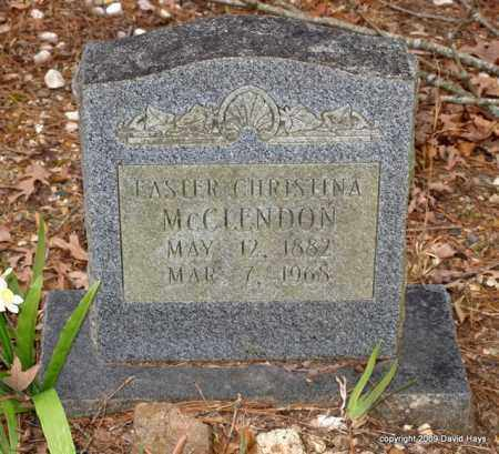 MCCLENDON, EASTER CHRISTINA - Garland County, Arkansas | EASTER CHRISTINA MCCLENDON - Arkansas Gravestone Photos