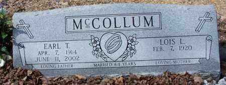 MCCOLLUM, EARL T. - Garland County, Arkansas   EARL T. MCCOLLUM - Arkansas Gravestone Photos