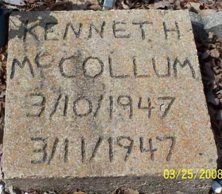 MCCOLLUM, KENNETH H - Garland County, Arkansas   KENNETH H MCCOLLUM - Arkansas Gravestone Photos