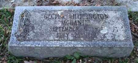 WHITTINGTON MCDANIEL, CECILE - Garland County, Arkansas | CECILE WHITTINGTON MCDANIEL - Arkansas Gravestone Photos