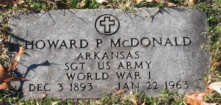 MCDONALD (VETERAN WWI), HOWARD P - Garland County, Arkansas | HOWARD P MCDONALD (VETERAN WWI) - Arkansas Gravestone Photos