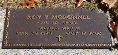 MCDONNEL (VETERAN WWII), ROY T - Garland County, Arkansas | ROY T MCDONNEL (VETERAN WWII) - Arkansas Gravestone Photos