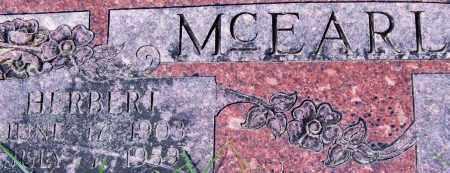 MCEARL, HERBERT (CLOSE UP) - Garland County, Arkansas   HERBERT (CLOSE UP) MCEARL - Arkansas Gravestone Photos