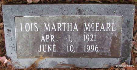 MCEARL, LOIS MARTHA - Garland County, Arkansas   LOIS MARTHA MCEARL - Arkansas Gravestone Photos