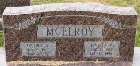 MCELROY, GEORGE A. - Garland County, Arkansas | GEORGE A. MCELROY - Arkansas Gravestone Photos