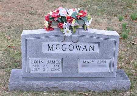 MCGOWAN, JOHN JAMES - Garland County, Arkansas | JOHN JAMES MCGOWAN - Arkansas Gravestone Photos