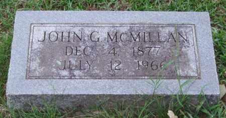 MCMILLAN, JOHN G. - Garland County, Arkansas   JOHN G. MCMILLAN - Arkansas Gravestone Photos