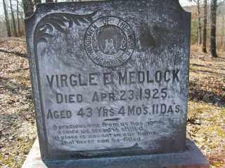 MEDLOCK, VIRGLE E. - Garland County, Arkansas   VIRGLE E. MEDLOCK - Arkansas Gravestone Photos