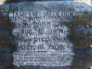 MEDLOCK, JAMES E. - Garland County, Arkansas | JAMES E. MEDLOCK - Arkansas Gravestone Photos