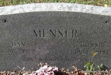 MENSER, GUSSIE - Garland County, Arkansas | GUSSIE MENSER - Arkansas Gravestone Photos