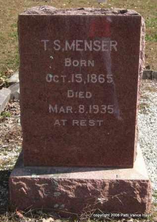 MENSER, T. S. - Garland County, Arkansas   T. S. MENSER - Arkansas Gravestone Photos