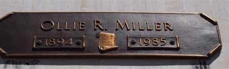 MILLER, OLLIE R - Garland County, Arkansas | OLLIE R MILLER - Arkansas Gravestone Photos