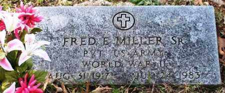 MILLER, SR (VETERAN WWII), FRED E - Garland County, Arkansas | FRED E MILLER, SR (VETERAN WWII) - Arkansas Gravestone Photos