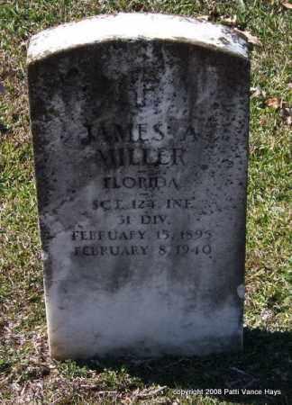 MILLER (VETERAN), JAMES A - Garland County, Arkansas | JAMES A MILLER (VETERAN) - Arkansas Gravestone Photos