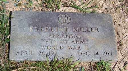 MILLER (VETERAN WWII), EVERET T. - Garland County, Arkansas | EVERET T. MILLER (VETERAN WWII) - Arkansas Gravestone Photos
