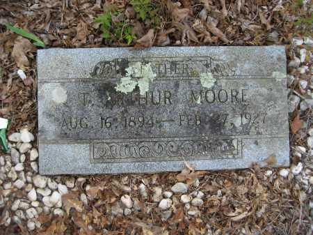 MOORE, T. ARTHUR - Garland County, Arkansas   T. ARTHUR MOORE - Arkansas Gravestone Photos