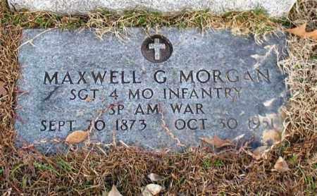 MORGAN (VETERAN SAW), MAXWELL G - Garland County, Arkansas   MAXWELL G MORGAN (VETERAN SAW) - Arkansas Gravestone Photos