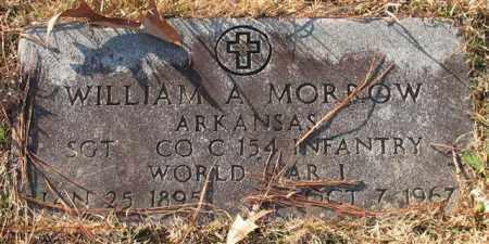 MORROW (VETERAN WWI), WILLIAM A - Garland County, Arkansas | WILLIAM A MORROW (VETERAN WWI) - Arkansas Gravestone Photos