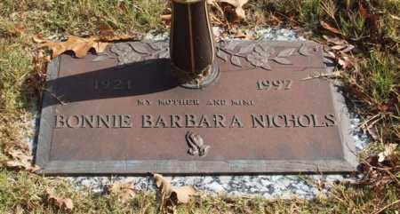 NICHOLS, BONNIE BARBARA - Garland County, Arkansas | BONNIE BARBARA NICHOLS - Arkansas Gravestone Photos
