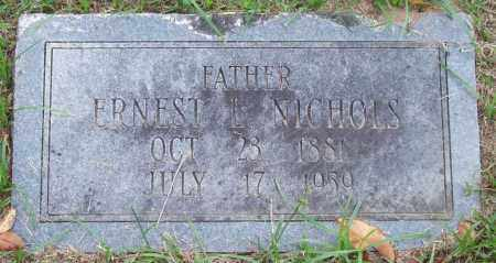 NICHOLS, ERNEST L. - Garland County, Arkansas | ERNEST L. NICHOLS - Arkansas Gravestone Photos