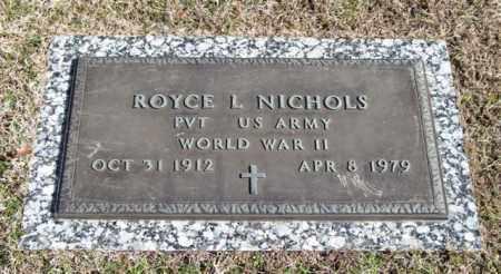 NICHOLS (VETERAN WWII), ROYCE L - Garland County, Arkansas | ROYCE L NICHOLS (VETERAN WWII) - Arkansas Gravestone Photos