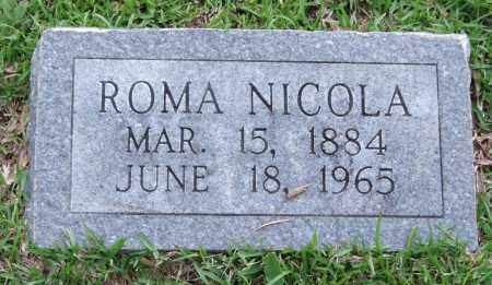 NICOLA, ROMA - Garland County, Arkansas   ROMA NICOLA - Arkansas Gravestone Photos