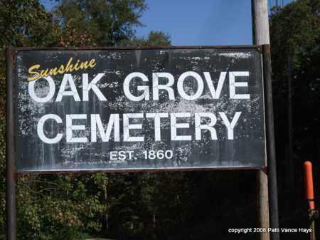 *OAK GROVE CEMETERY, SIGN - Garland County, Arkansas | SIGN *OAK GROVE CEMETERY - Arkansas Gravestone Photos