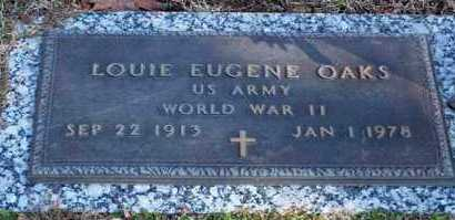 OAKS (VETERAN WWII), LOUIE EUGENE - Garland County, Arkansas | LOUIE EUGENE OAKS (VETERAN WWII) - Arkansas Gravestone Photos