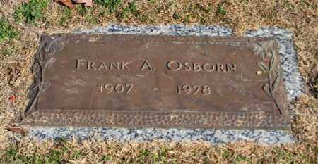 OSBORN, FRANK A - Garland County, Arkansas | FRANK A OSBORN - Arkansas Gravestone Photos