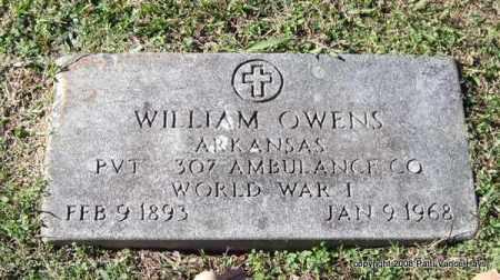 OWENS (VETERAN WWI), WILLIAM - Garland County, Arkansas   WILLIAM OWENS (VETERAN WWI) - Arkansas Gravestone Photos