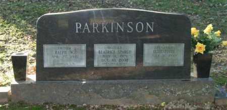 SPARGO PARKINSON, BEATRICE - Garland County, Arkansas | BEATRICE SPARGO PARKINSON - Arkansas Gravestone Photos