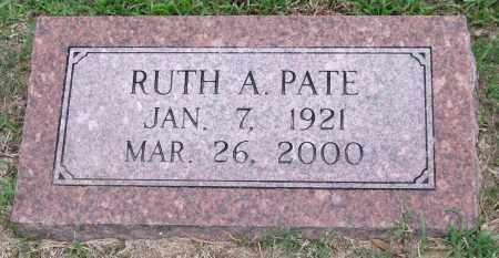 PATE, RUTH A. - Garland County, Arkansas | RUTH A. PATE - Arkansas Gravestone Photos