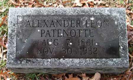 PATENOTTE, ALEXANDER LEON - Garland County, Arkansas | ALEXANDER LEON PATENOTTE - Arkansas Gravestone Photos