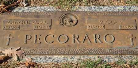 PECORARO, VIOLA E. - Garland County, Arkansas | VIOLA E. PECORARO - Arkansas Gravestone Photos