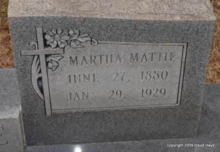 MCCLENDON PERDUE, MARTHA MATTIE - Garland County, Arkansas | MARTHA MATTIE MCCLENDON PERDUE - Arkansas Gravestone Photos
