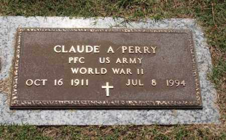 PERRY (VETERAN WWII), CLAUDE A. - Garland County, Arkansas | CLAUDE A. PERRY (VETERAN WWII) - Arkansas Gravestone Photos
