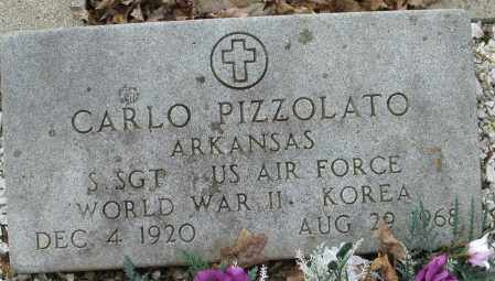 PIZZOLATO (VETERAN 2 WARS), CARLO - Garland County, Arkansas | CARLO PIZZOLATO (VETERAN 2 WARS) - Arkansas Gravestone Photos