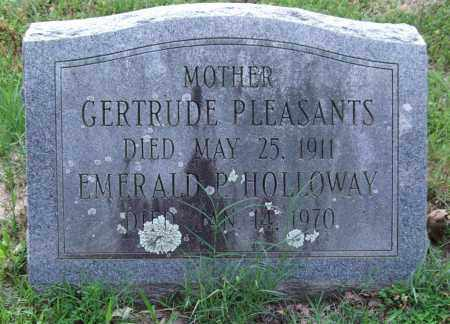 PLEASANTS, GERTRUDE - Garland County, Arkansas | GERTRUDE PLEASANTS - Arkansas Gravestone Photos