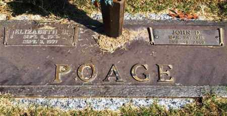 POAGE, JOHN D - Garland County, Arkansas | JOHN D POAGE - Arkansas Gravestone Photos