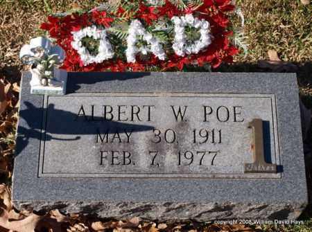 POE, ALBERT W. - Garland County, Arkansas | ALBERT W. POE - Arkansas Gravestone Photos