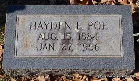 POE, HAYDEN E. - Garland County, Arkansas | HAYDEN E. POE - Arkansas Gravestone Photos
