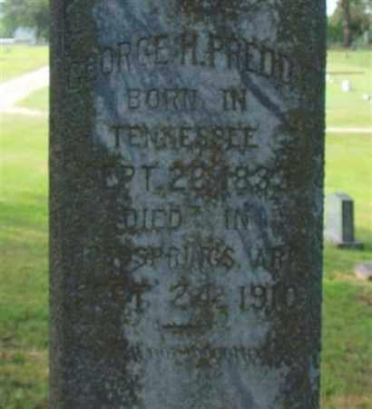 PREDDY, GEORGE H. (CLOSE UP) - Garland County, Arkansas | GEORGE H. (CLOSE UP) PREDDY - Arkansas Gravestone Photos