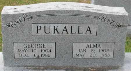 PUKALLA, ALMA - Garland County, Arkansas | ALMA PUKALLA - Arkansas Gravestone Photos