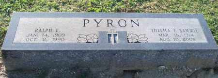 "PYRON, THELMA F. ""SAMMIE"" - Garland County, Arkansas | THELMA F. ""SAMMIE"" PYRON - Arkansas Gravestone Photos"